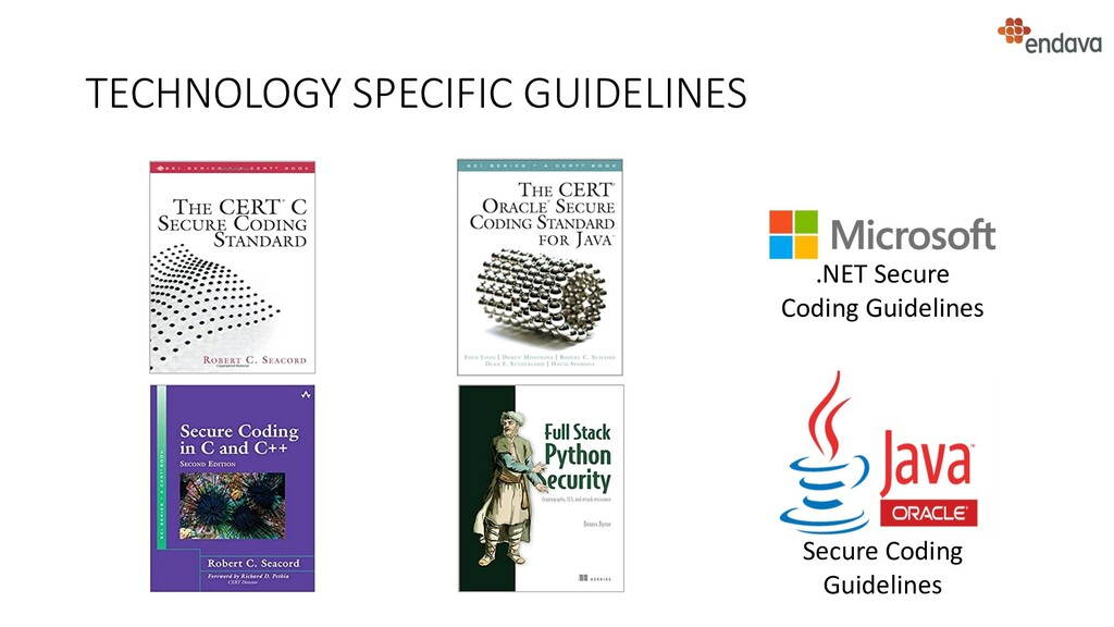 TECHNOLOGY SPECIFIC GUIDELINES Secure Coding Gu...