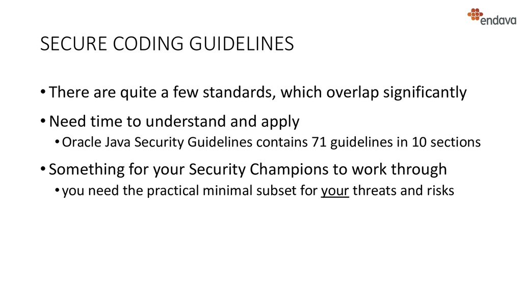 SECURE CODING GUIDELINES • There are quite a fe...