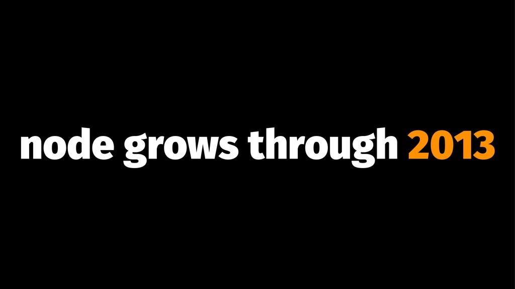 node grows through 2013