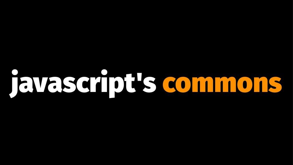 javascript's commons