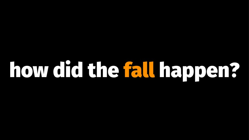 how did the fall happen?
