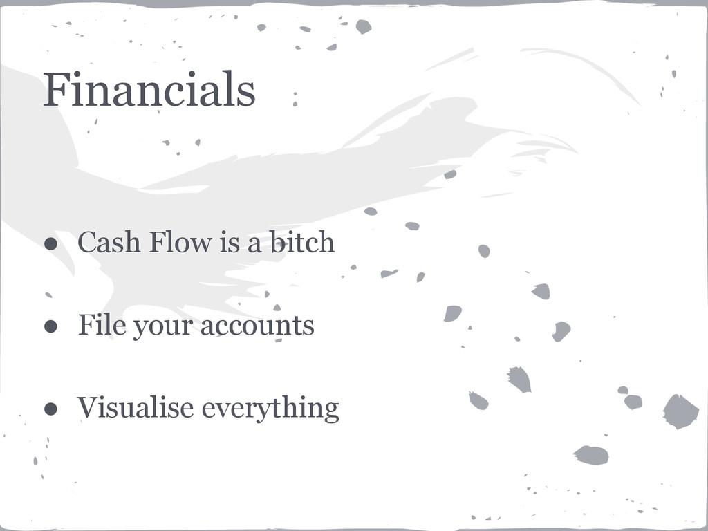Financials ● Cash Flow is a bitch ● File your a...