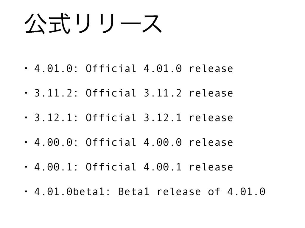 ެࣜϦϦʔε • 4.01.0: Official 4.01.0 release • 3.11...