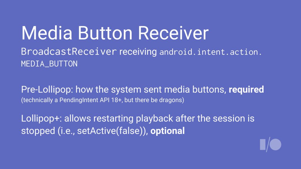 Media Button Receiver BroadcastReceiver receivi...