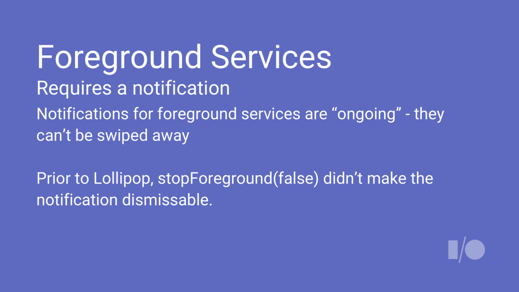 Foreground Services Requires a notification Not...