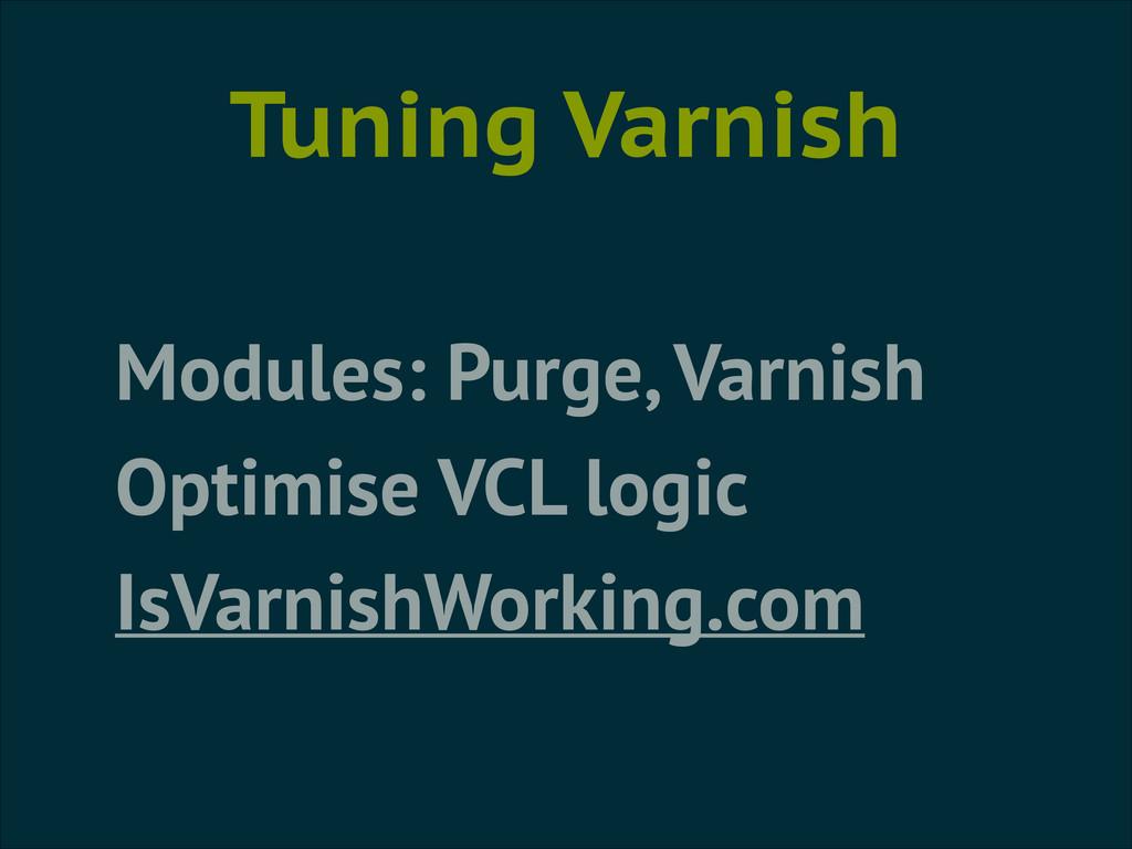 Tuning Varnish Modules: Purge, Varnish Optimise...