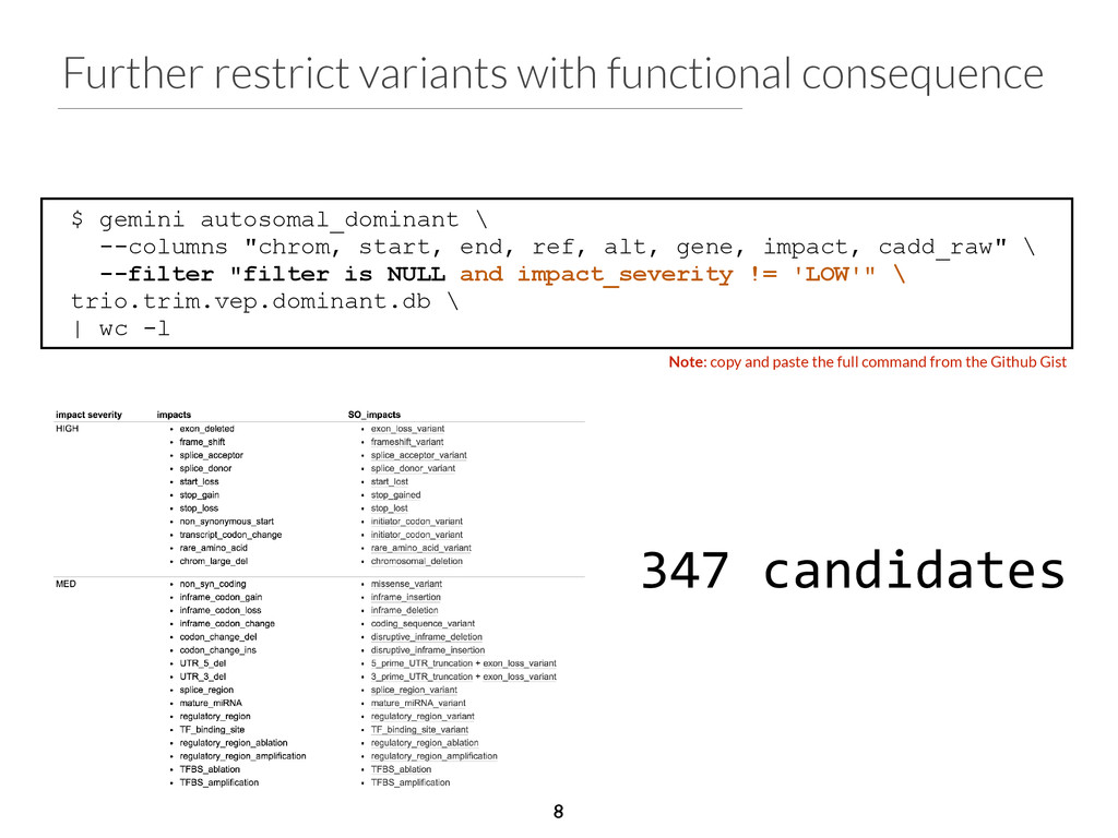 Further restrict variants with functional conse...