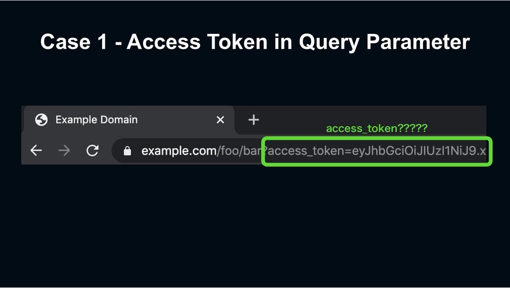 Case 1 - Access Token in Query Parameter BDDFTT...
