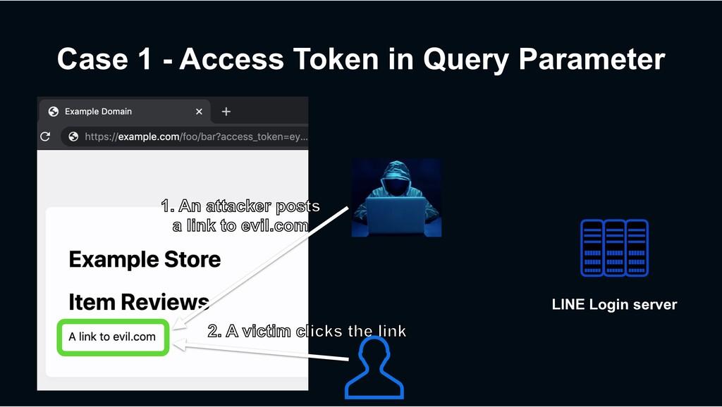 Case 1 - Access Token in Query Parameter 1. An ...
