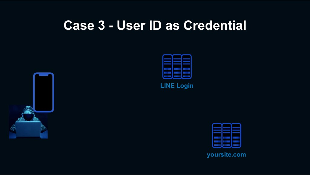 Case 3 - User ID as Credential LINE Login yours...