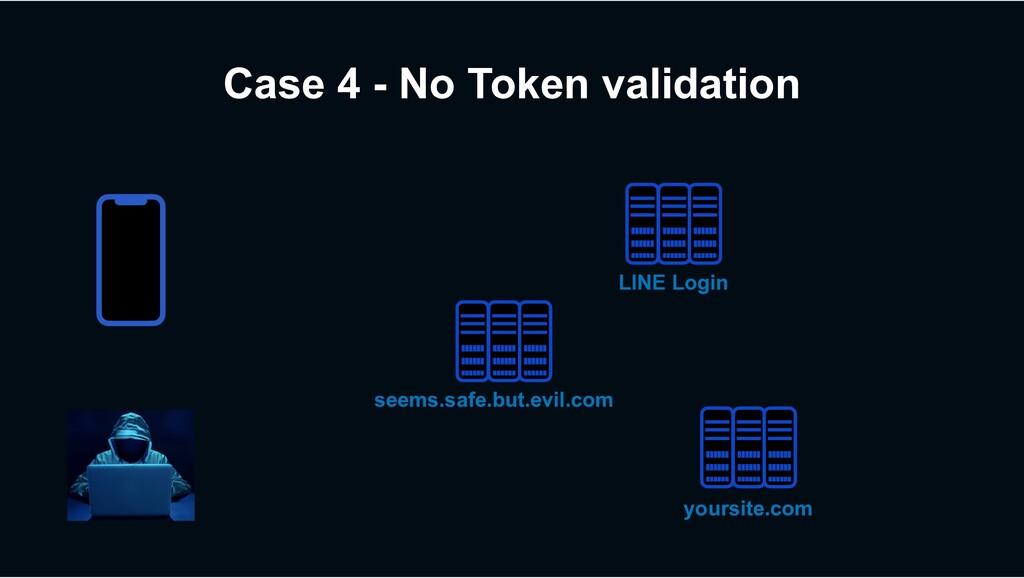 Case 4 - No Token validation seems.safe.but.evi...