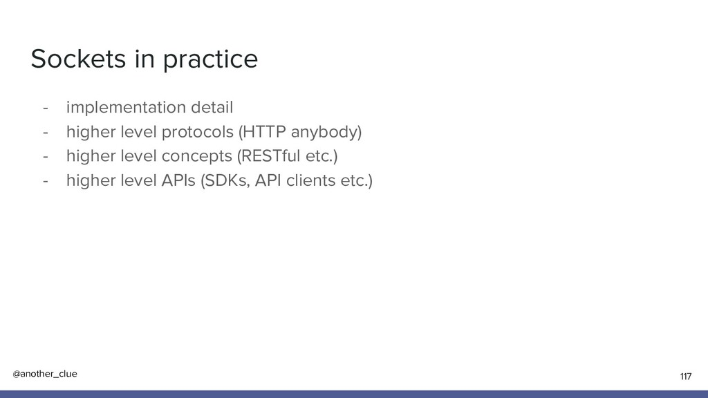 @another_clue Sockets in practice - implementat...