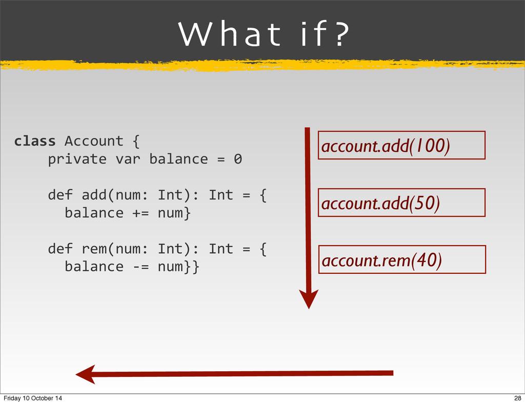 account.add(100) account.add(50) account.rem(40...