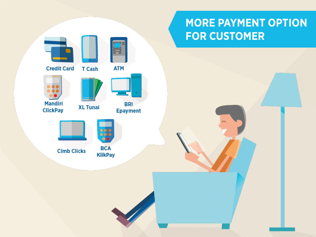 MORE PAYMENT OPTION FOR CUSTOMER