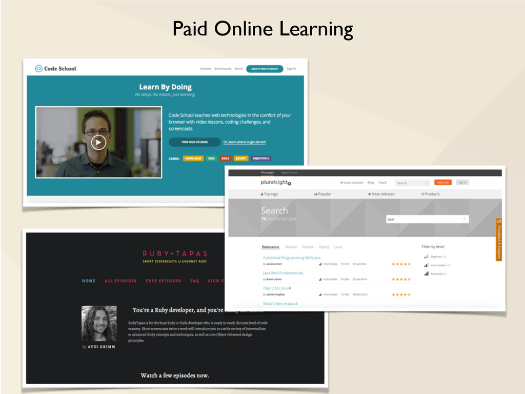 Paid Online Learning