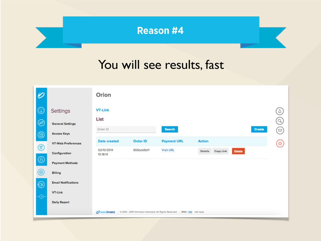 Reason #4 You will see results, fast