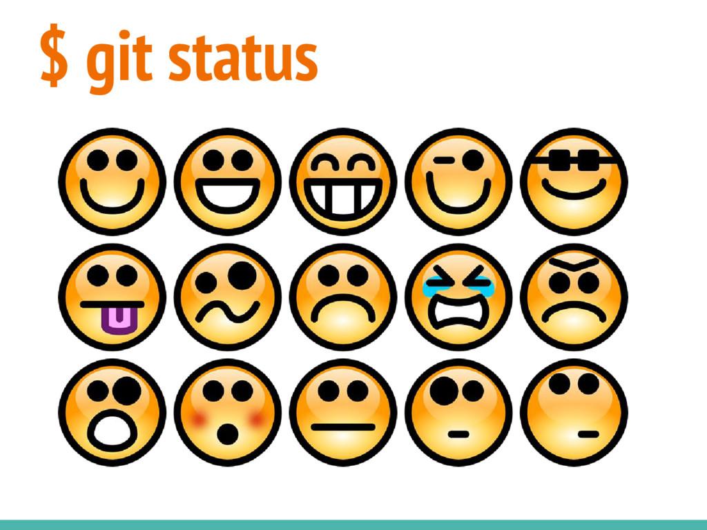 $ git status