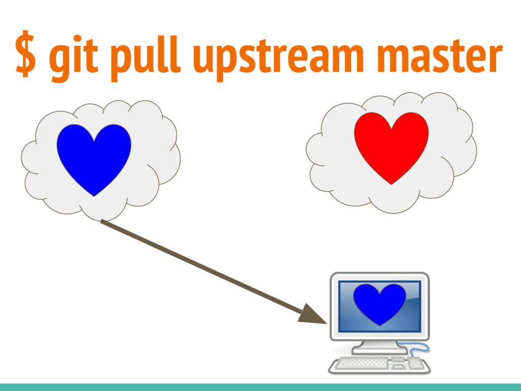 $ git pull upstream master