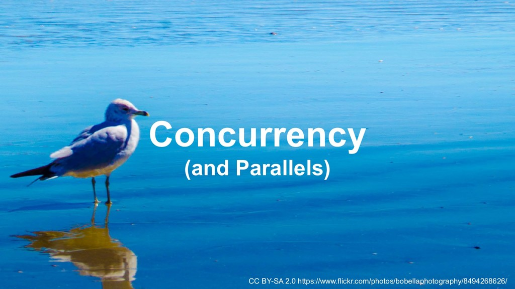 28 Concurrency (and Parallels) CC BY-SA 2.0 htt...
