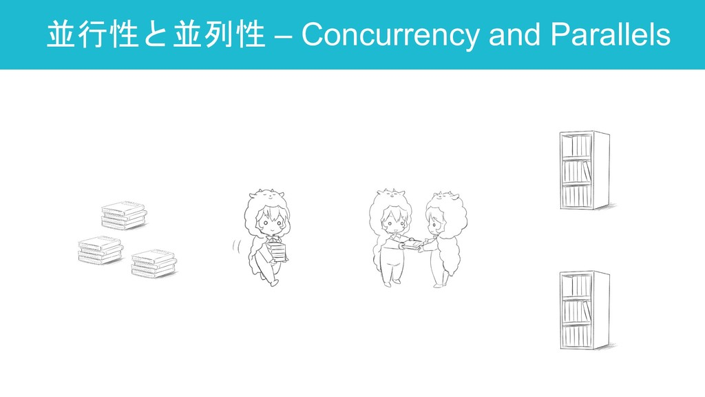 並行性と並列性 – Concurrency and Parallels 34