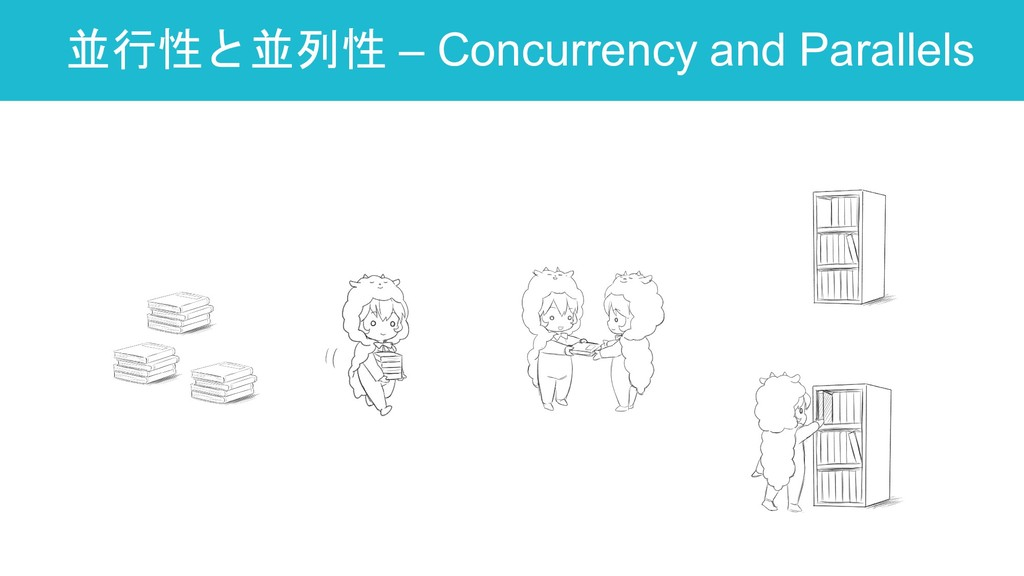 並行性と並列性 – Concurrency and Parallels 36