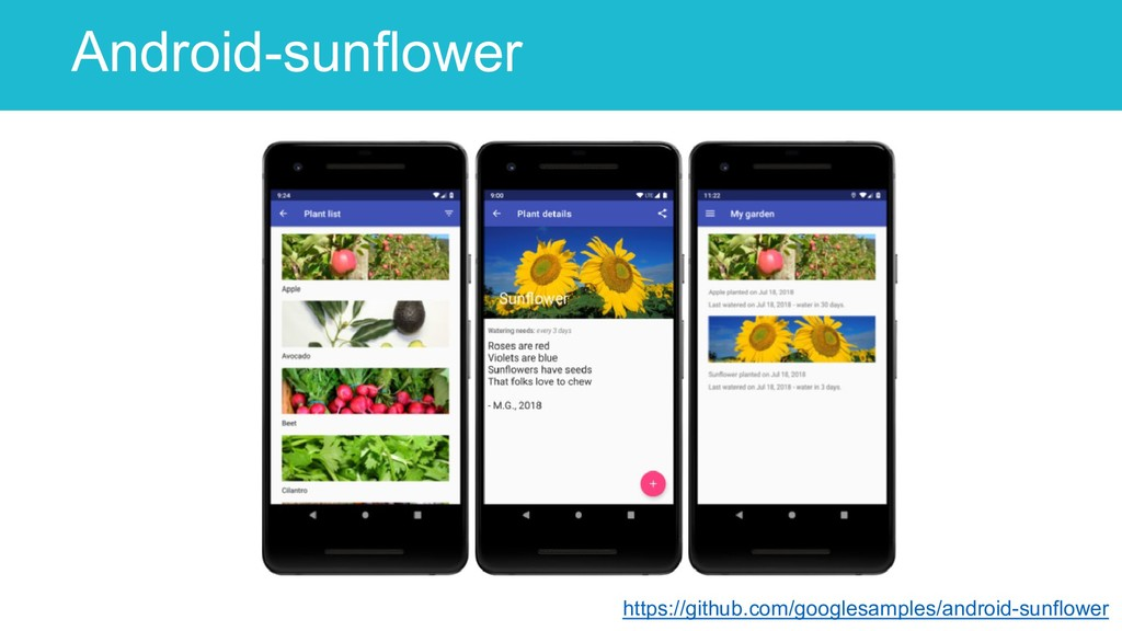 Android-sunflower 52 https://github.com/googles...