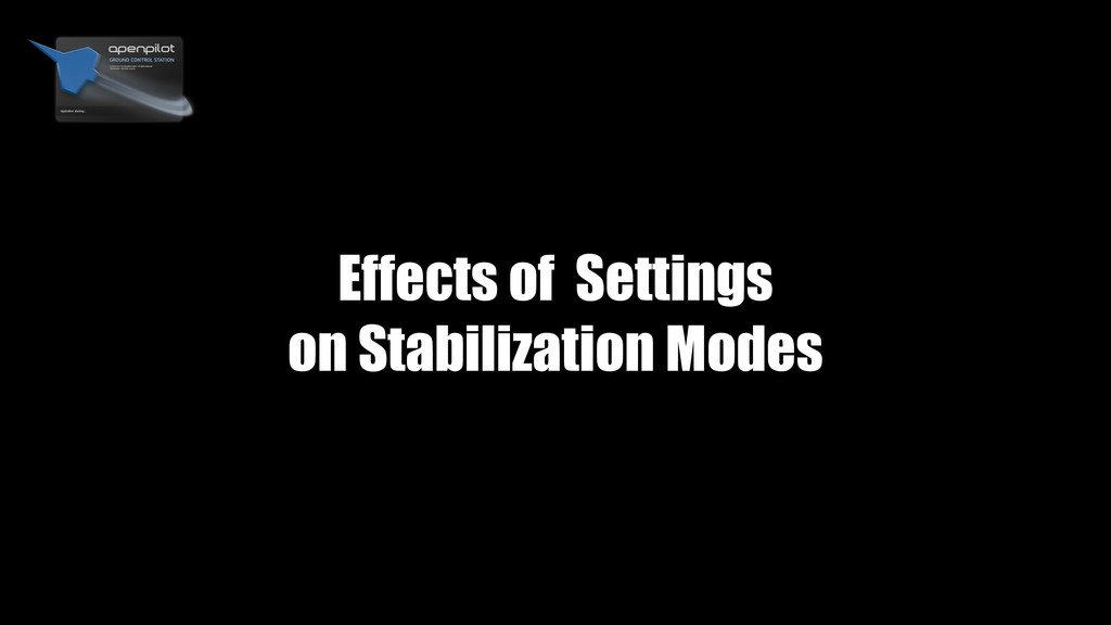 Effects of Settings on Stabilization Modes
