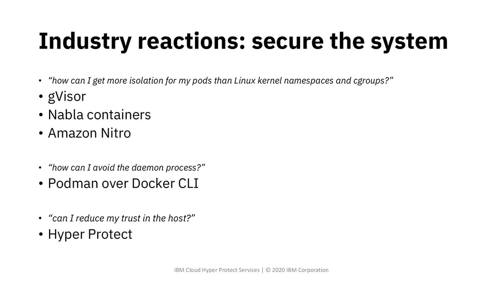 """Industry reactions: secure the system • """"how ca..."""