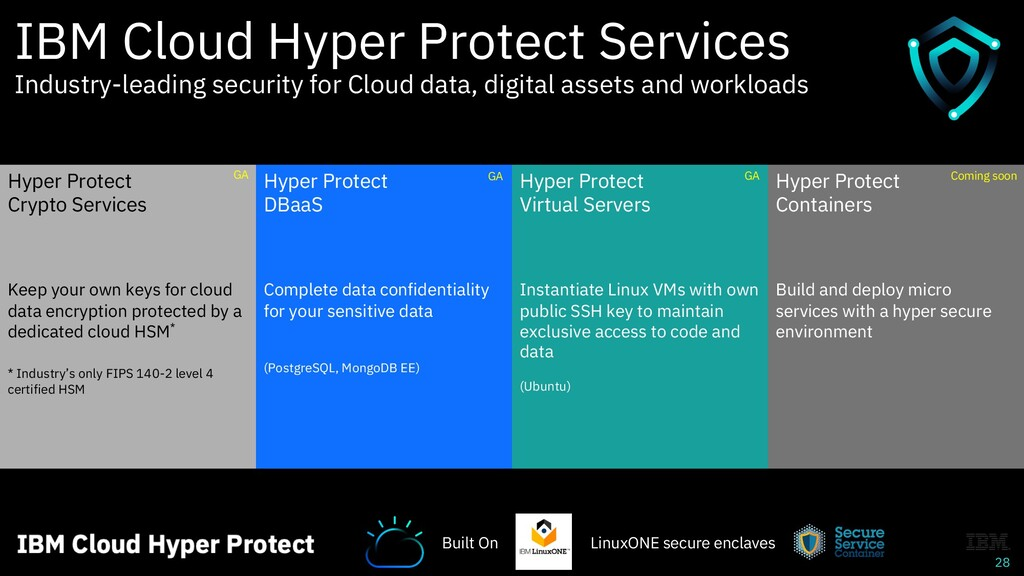 28 IBM Cloud Hyper Protect Services Industry-le...