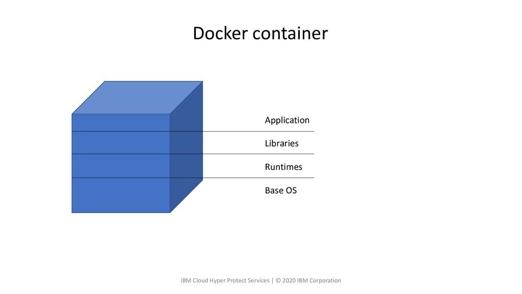 Application Libraries Runtimes Base OS Docker c...