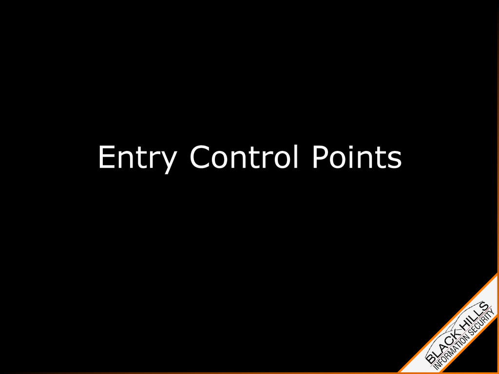 Entry Control Points