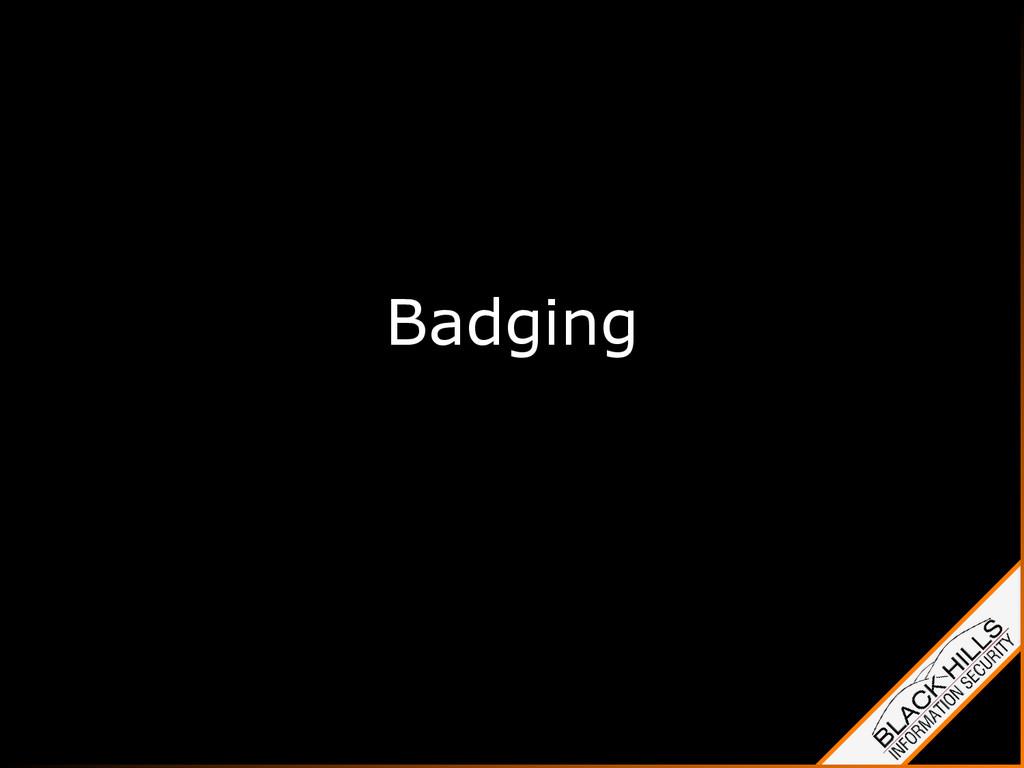 Badging