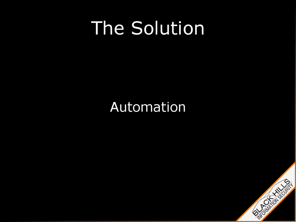 The Solution Automation