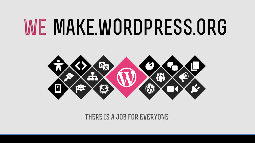 THERE IS A JOB FOR EVERYONE make.wordpress.org ...