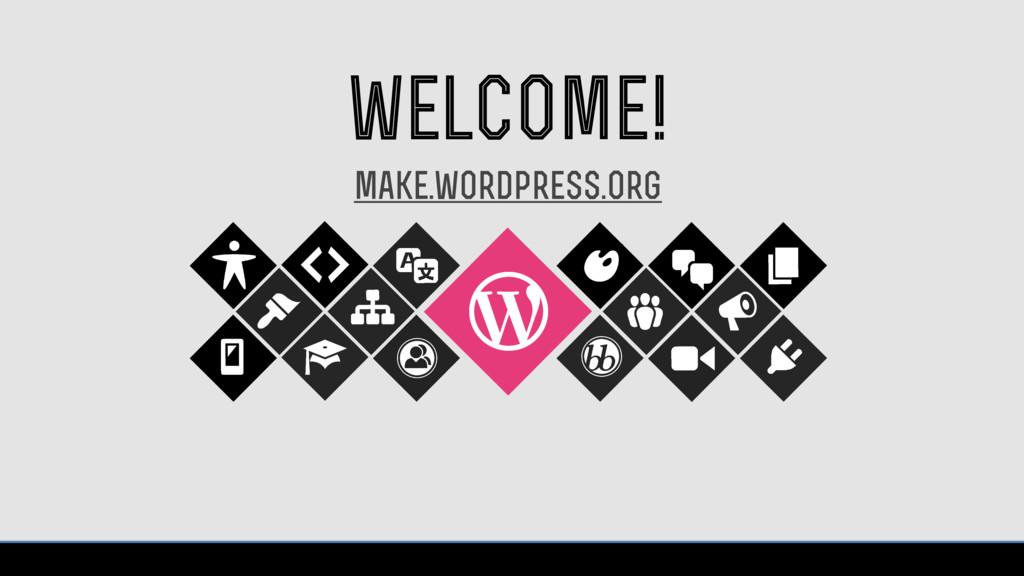 welcome! make.wordpress.org