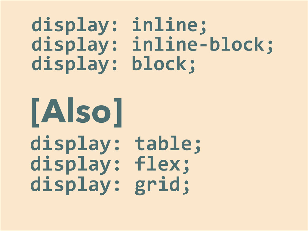 display:	