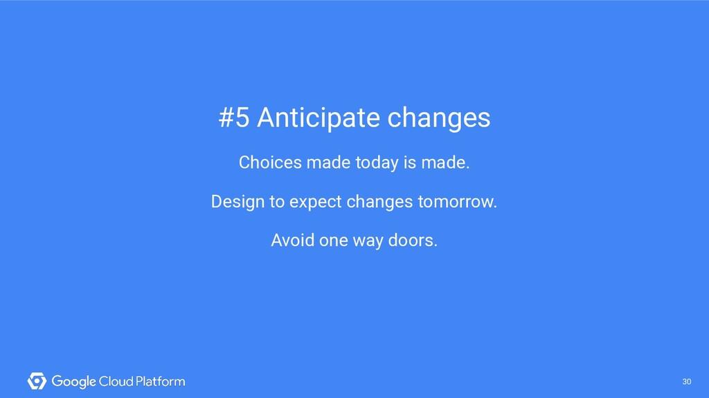 30 @saturnism @gcpcloud 30 #5 Anticipate change...