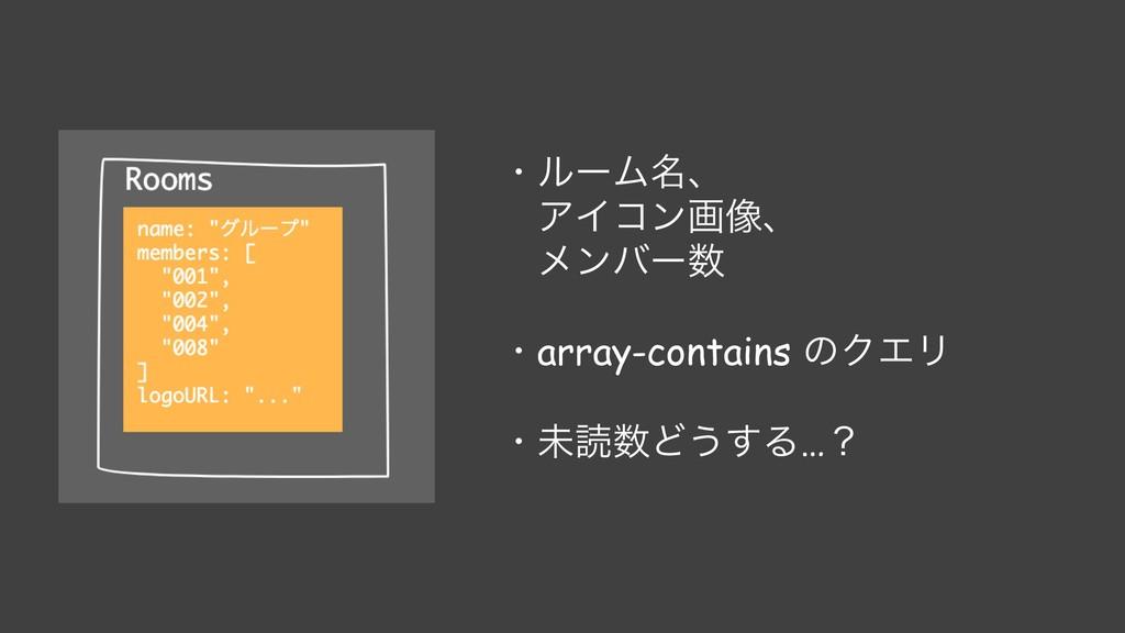 ɾϧʔϜ໊ɺ ΞΠίϯը૾ɺ ϝϯόʔ ɾarray-contains ͷΫΤϦ ɾະಡͲ...
