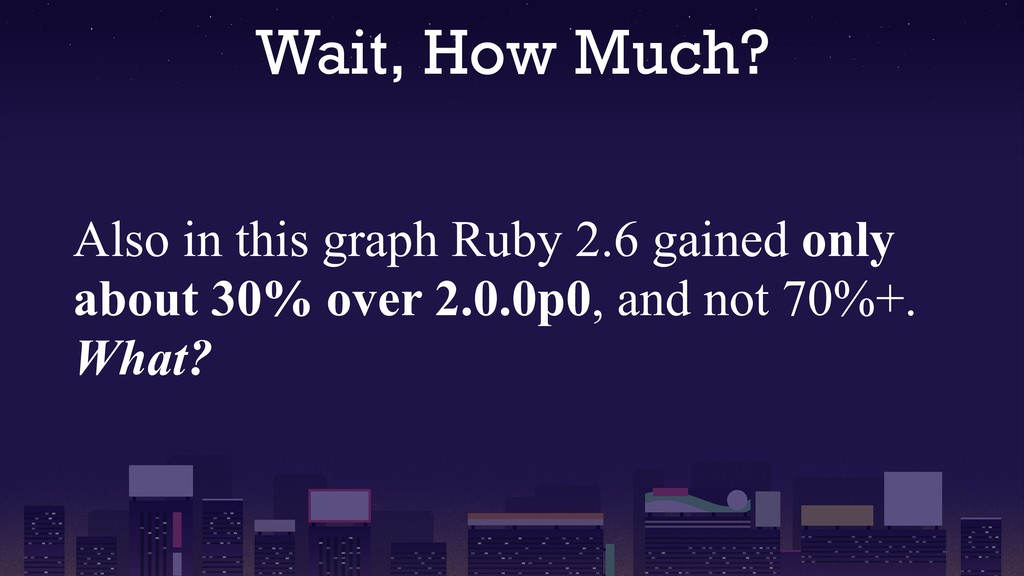 Wait, How Much? Also in this graph Ruby 2.6 gai...