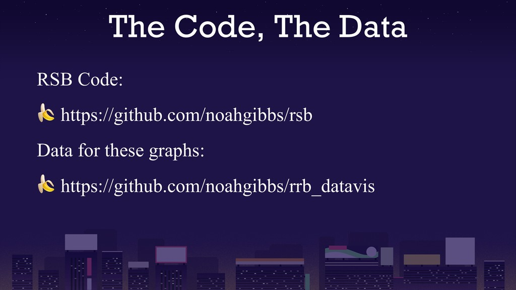 The Code, The Data RSB Code:  https://github.co...