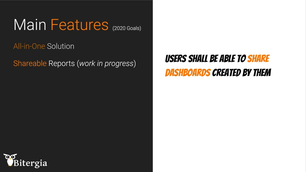Users shall be able to share dashboards created...
