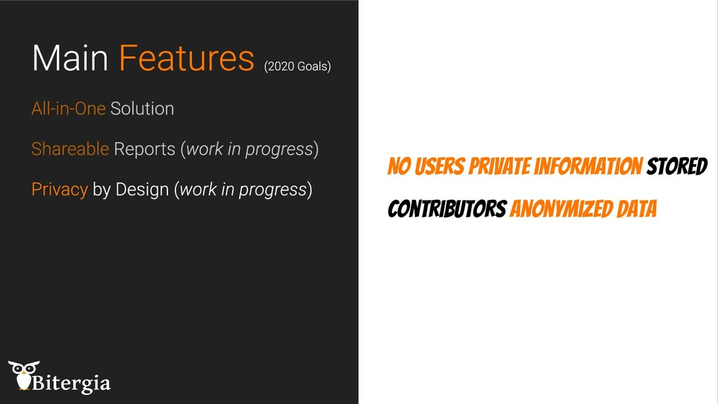 No users private information stored Contributor...