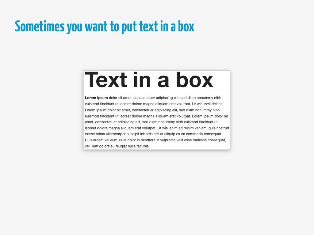 Text in a box Lorem ipsum dolor sit amet, conse...