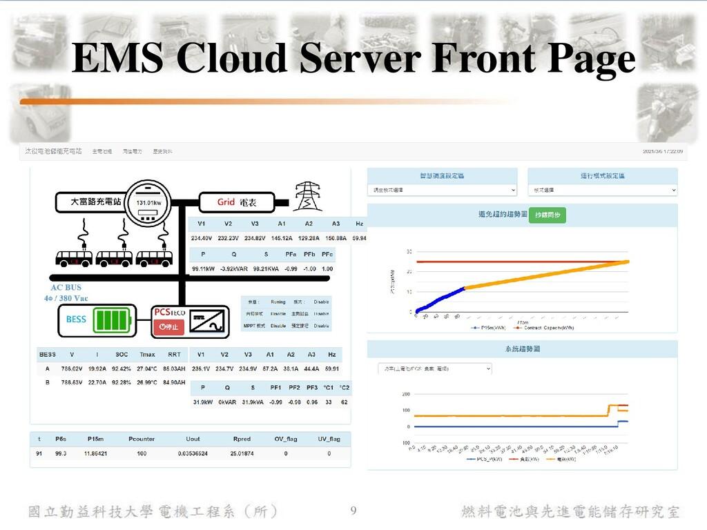 燃料電池與先進電能儲存研究室 國立勤益科技大學 電機工程系(所) EMS Cloud Serv...