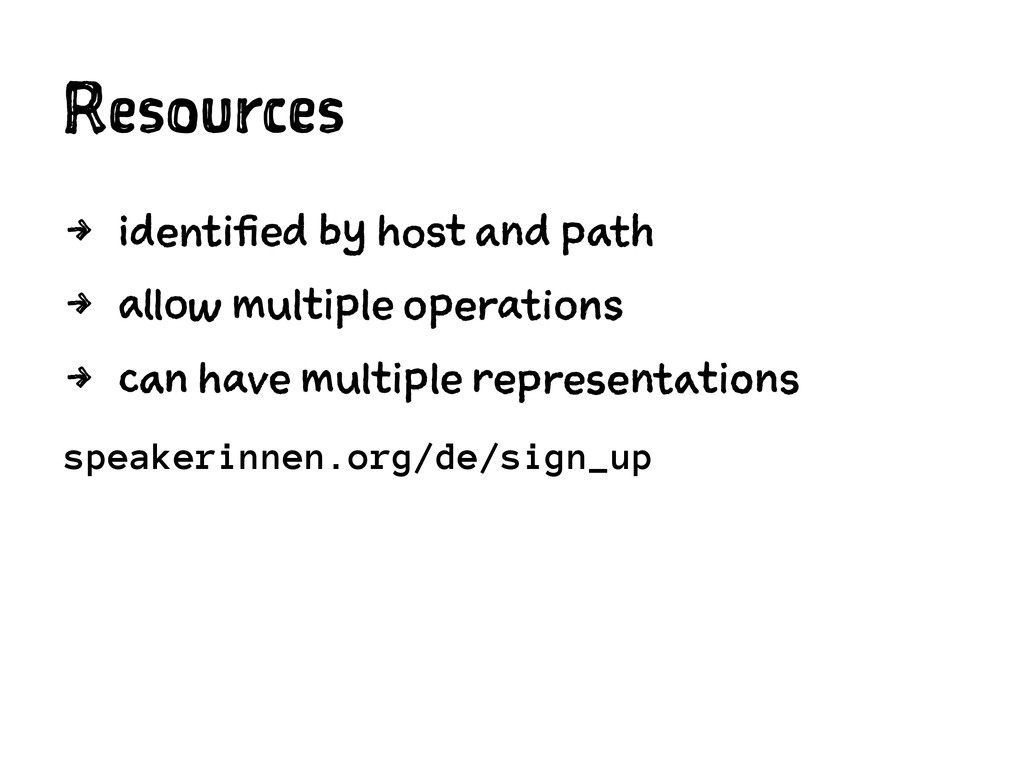 Resources 4 identified by host and path 4 allow...