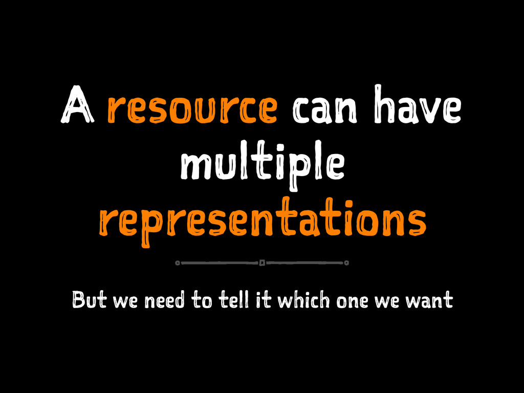 A resource can have multiple representations Bu...