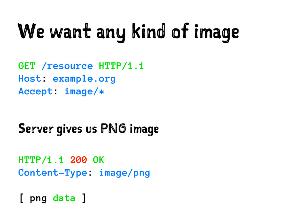 We want any kind of image GET /resource HTTP/1....