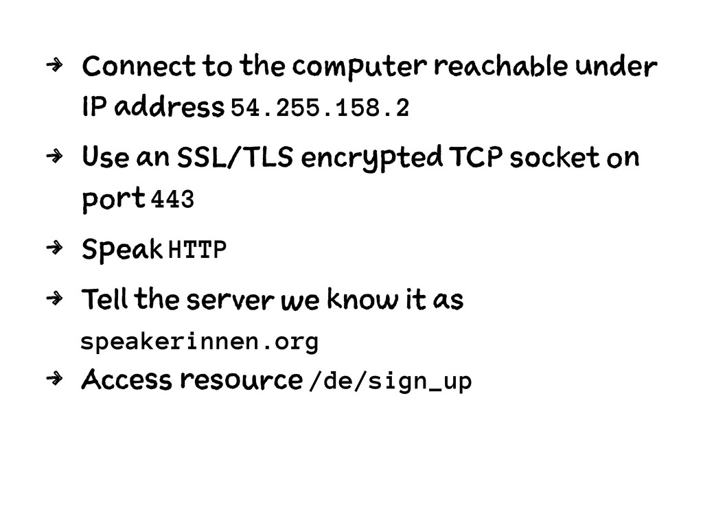 4 Connect to the computer reachable under IP ad...