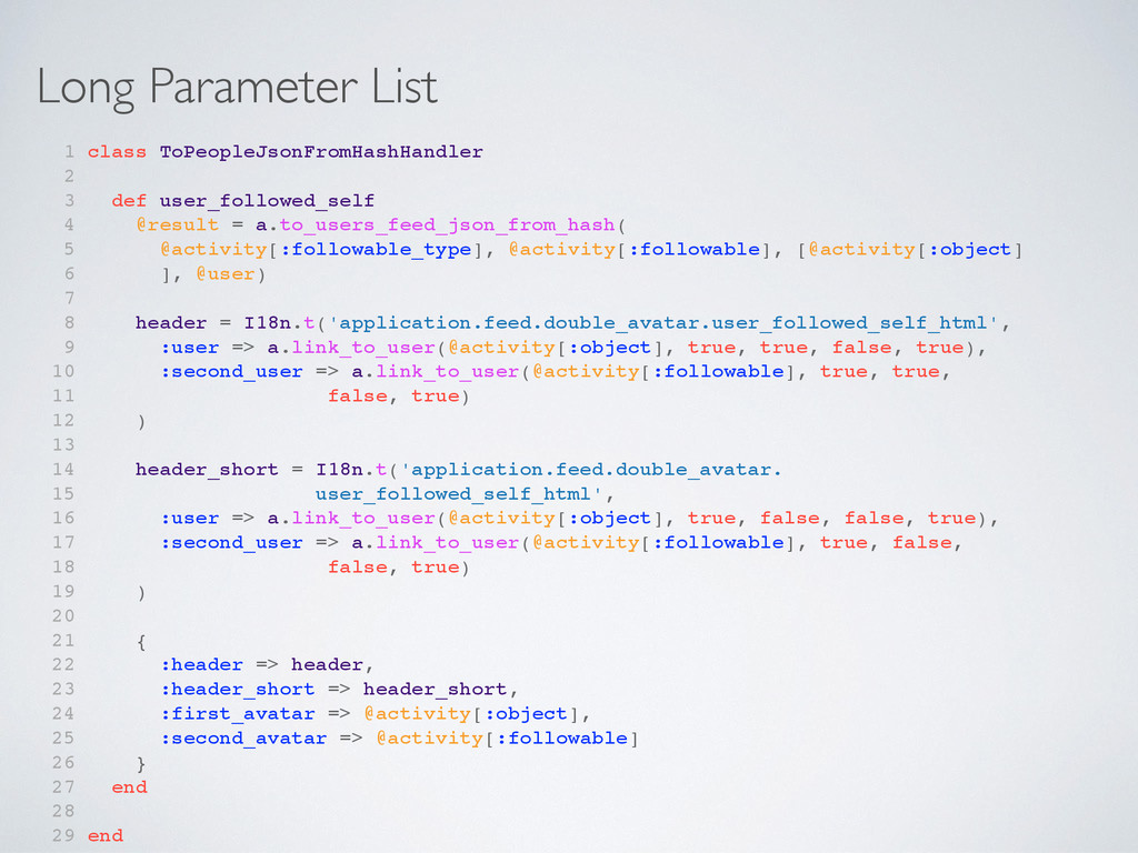 Long Parameter List 1 class ToPeopleJsonFromHas...