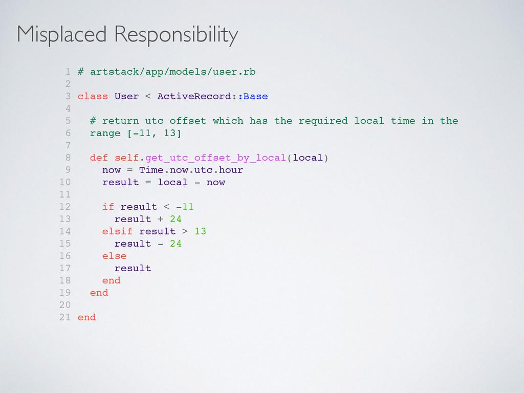 Misplaced Responsibility 1 # artstack/app/model...